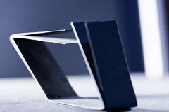 Zmrok - błękitnego papieru cienie i kształty Obraz Stock