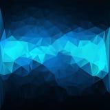 Zmrok - błękitny Abstrakcjonistyczny tło wektor Obrazy Royalty Free