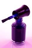 Zmrok - błękitny gwoździa lakier Zdjęcie Royalty Free
