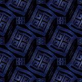 Zmrok - błękitny nowożytny geometryczny bezszwowy deseniowy tła wallpape Zdjęcia Stock