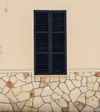 Zmrok - błękitny okno Zdjęcia Stock