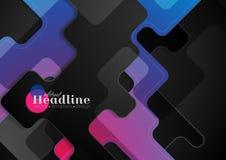 Zmrok - błękitny purpurowy abstrakcjonistyczny geometryczny korporacyjny tło Zdjęcia Stock