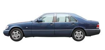 Zmrok - błękitny samochód Fotografia Royalty Free