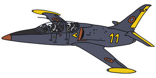 Zmrok - błękitny samolot Zdjęcia Stock