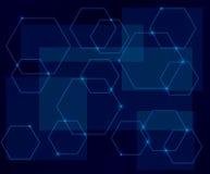 Zmrok - błękitny tło z geometrycznymi kształtami ilustracji