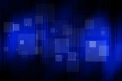 Zmrok - błękitny tło z kwadratem Fotografia Royalty Free