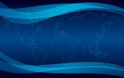 Zmrok - błękitny tło z mapą royalty ilustracja