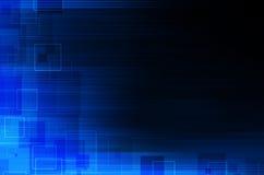 Zmrok - błękitny techniczny abstrakcjonistyczny tło ilustracja wektor