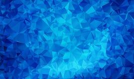 ZMROK - błękitny wektorowy abstrakt textured poligonalny tło Rozmyty trójboka projekt ilustracja wektor