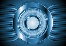 Zmrok - błękitny zaawansowany technicznie tło. Wektorowy projekt Zdjęcia Royalty Free
