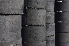 Zmrok budowy betonowe tubki Obrazy Stock