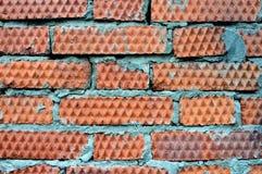 Zmrok - czerwona ściana z cegieł tekstura zdjęcia royalty free