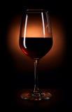 zmrok - czerwone wino Fotografia Royalty Free