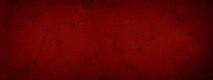 Zmrok - czerwony abstrakcjonistyczny textured tło pękający tynk Tekstury czerwona farba pękająca ściana Tło tynku ściany tekstury obrazy stock