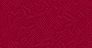 Zmrok - czerwony matte geometryczny nawierzchniowy tło Przypadkowy Burgundy linii kształtów abstrakcjonistyczny zapętlający ruch ilustracja wektor
