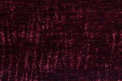 Zmrok - czerwony puszysty tło miękka część, wełnisty płótno Tekstura tekstylny zbliżenie Zdjęcia Royalty Free