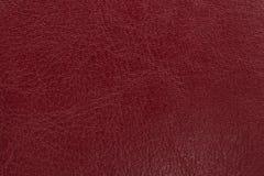 Zmrok - czerwony rzemienny tekstury tło Zbliżenie fotografia Obrazy Stock