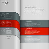Zmrok - czerwony Szary infographics Zdjęcia Stock
