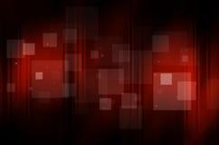 Zmrok - czerwony tło z kwadratem Zdjęcia Royalty Free