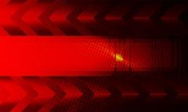 Zmrok - czerwony tekstury tło z ramową sylwetką, strzała i udziałami kropki jak dziury, ilustracja wektor