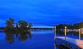 Dok na Gołębim jeziorze Zdjęcia Royalty Free