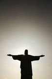 Zmrok nad Cristo Redentor zdjęcia royalty free