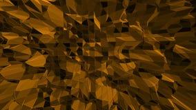 Zmrok - pomarańczowa niska poli- falowanie powierzchnia jako atom struktura Zmrok - pomarańczowy poligonalny geometryczny rozedrg royalty ilustracja