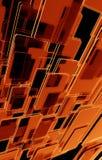 Zmrok - pomarańczowy Tło Zdjęcia Stock