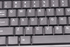 Zmrok popielata komputerowa klawiatura Zdjęcie Stock