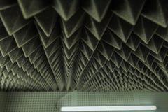 Zmrok popielatej trójgraniastej tekstury akustyczna piankowa guma zdjęcie royalty free