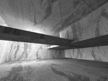 Zmrok pustych betonowych ścian izbowy wewnętrzny tło arch abstrakcyjne Royalty Ilustracja