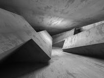 Zmrok pustych betonowych ścian izbowy wewnętrzny tło arch abstrakcyjne Ilustracji