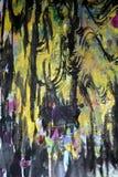 Zmrok różowa purpurowa złocista kurenda macha pluśnięcia, kolorowi żywi woskowaci kolory, kontrasta kreatywnie tło fotografia stock