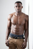 Zmrok Skinned Męska sprawność fizyczna Zdjęcie Royalty Free