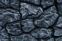 Zmrok - szara kamienna ściana dla dekoracja projekta Popielata tło marmuru ściany tekstura Dekoracyjnego kamienia wzór na czarnym obraz stock