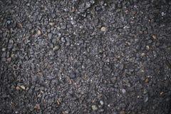 Zmroku asfalt Nierówna czerni powierzchnia brukująca road Obraz Stock