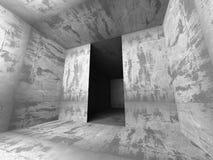 Zmroku betonu pusty izbowy wewnętrzny tło Zdjęcia Royalty Free