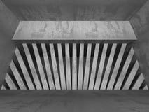 Zmroku betonu pusty izbowy wewnętrzny tło Fotografia Stock