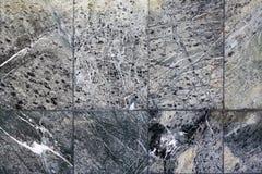 Zmroku granitu kamienia cegiełki Marmurowa powierzchnia Fotografia Royalty Free
