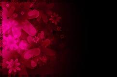 Zmroku różowy kwiecisty abstrakcjonistyczny tło. Obraz Royalty Free
