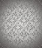 Zmroku srebny kwiecisty wektorowy tło Obraz Stock