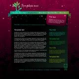 Zmroku webpage różowy układ Zdjęcie Stock