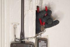 Zmusza drzwiowego kędziorek obrazy stock