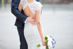 Zmysłowa ślub para Zdjęcia Royalty Free