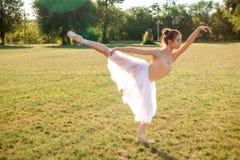 Zmysłowa balerina w naturze zdjęcie royalty free
