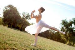 Zmysłowa balerina w naturze obraz royalty free