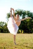 Zmysłowa balerina w naturze obrazy stock