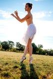 Zmysłowa balerina w naturze obraz stock