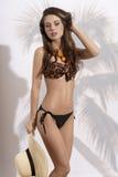 Zmysłowa dziewczyna z swimwear Fotografia Stock