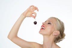 Zmysłowa kobieta na zbliżeniu Fotografia Stock
